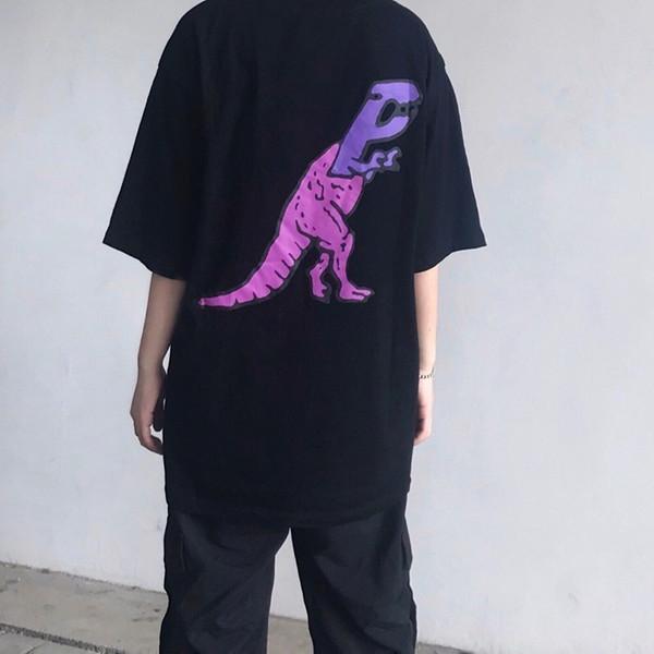 19FW Cartoon Gedruckt Paar T-shirt Hip Hop Mode Männer Frauen T Street Skateboard Atmungsaktiv Beiläufige Kurzen Ärmeln T Sommer HFLSTX461