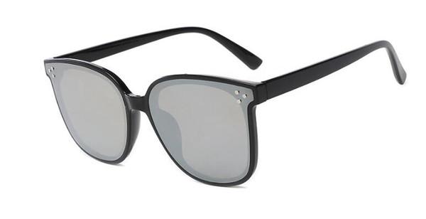 2019 new 6756 explosion metal small box cat eye sunglasses driving riding glass lens sunglasses ht55