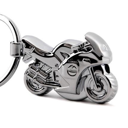 Motorcycle light key chain LED Creative Car keychain Pendant Metal Keychain Keyring Hanging