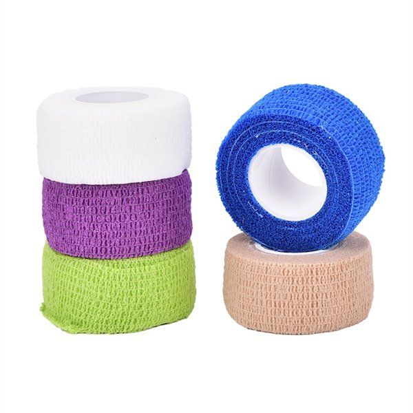 4.5M*2.5CM Non Woven Fabric Self Adhering Bandage Wraps Elastic Adhesive First Aid Tape Stretch Safe Protct Camping Tool #220395