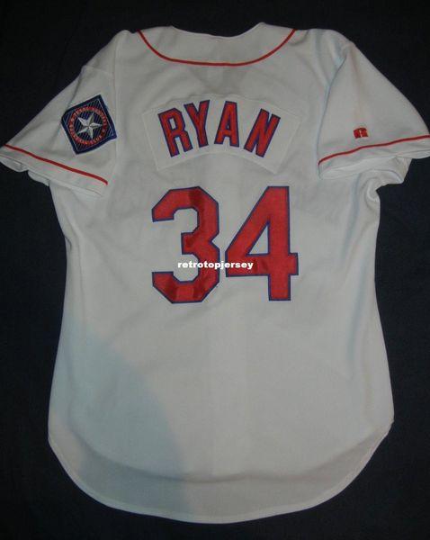 Cheap Retro #34 NOLAN RYAN Top Russell Athletic TEXAS Jersey Mens Stitched Baseball jerseys