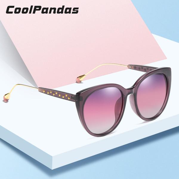 861e10660 Atacado Marca de Design Mulheres Cat eye Sunglasses Estilo Retro Feminino HD  Polarizada Óculos de Sol