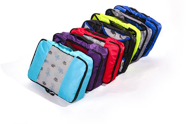 QIUYIN Packing Cube Travel Bag System Durable 5 Pieces One Set Large Capacity Of Unisex Clothing Sorting Nylon Organize Bag