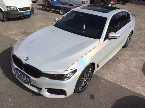 Iridescence laser chrome film Psychedelic Vinyl For Car wrap With Air bubble Car Wrapping film covers stickers size 1.52x20m 5x67ft