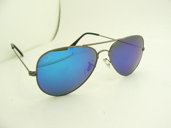 Gun color frame blue lens