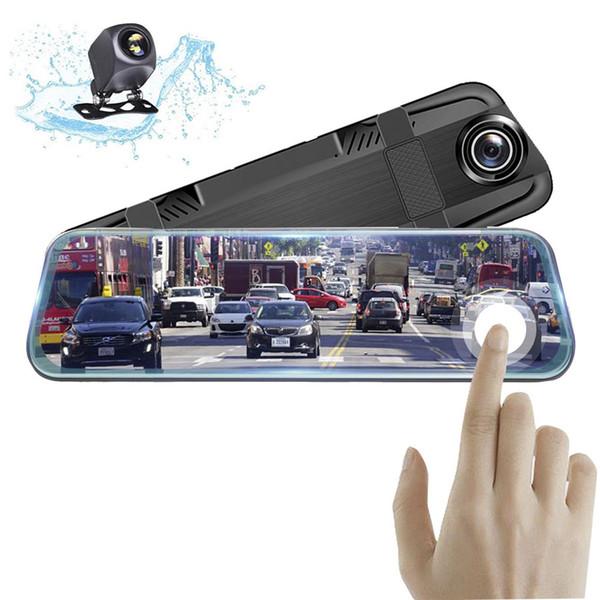 10 pulgadas del espejo retrovisor del coche DVR Dash Cámara Full HD 1080 P Cam Pantalla táctil Grabadora de video Registrador automático Visión nocturna
