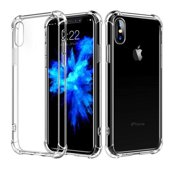 Custodia morbida in silicone TPU per iPhone 5 5S 6 6S 7 8 Plus X XS Max XR cover posteriore per telefono