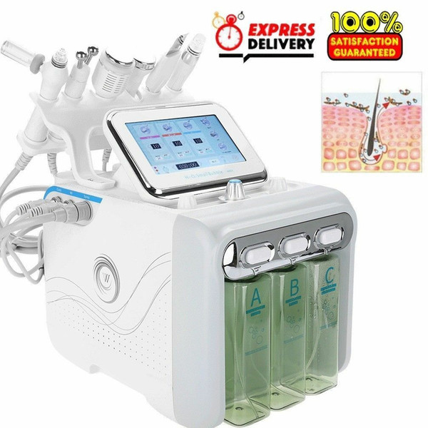 best selling Multifunctional 6 in 1 H2 O2 Hydra Facial Dermabrasion Hydro Microdermabrasion Peeling Vacuum Skin Cleaning Water Aqua Oxygen Spray Device B