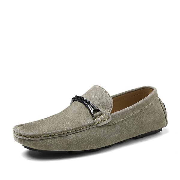 Men's Genuine Leather Loafers Male New Breathable Boat Shoes Men's Soft Driving Shoes