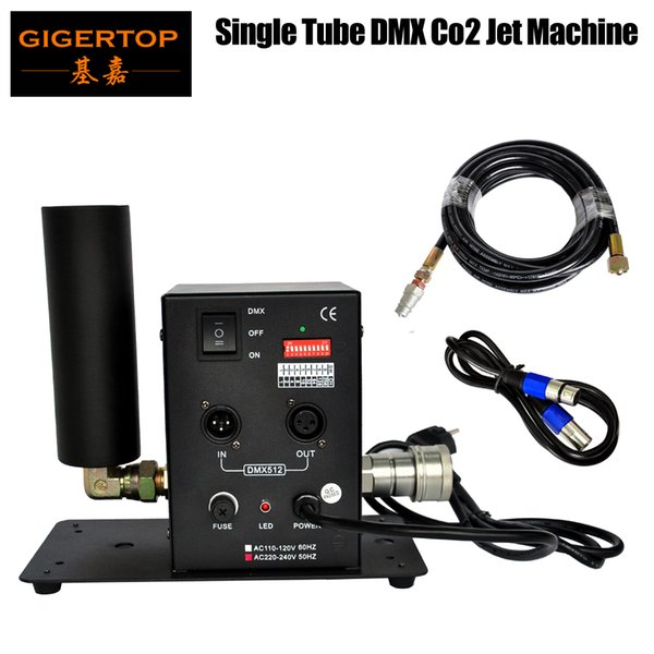 top popular TIPTOP Single Tube CO2 Machine With 6 Meter Hose One Pipe CO2 Column Jet DMX512 Led Stage Effect Machine DMX Co2 Jet Stage Light TP-T27 2021