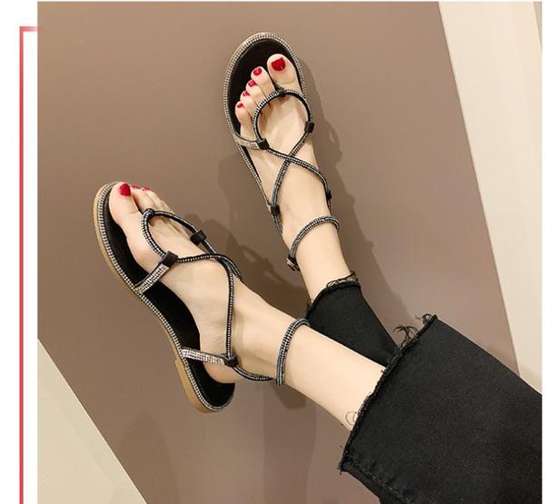 Summer shoes 2019# new flat strap flip-flops toe sandals comfort casual shoes women#039;sbeautiful fashion 35-39#