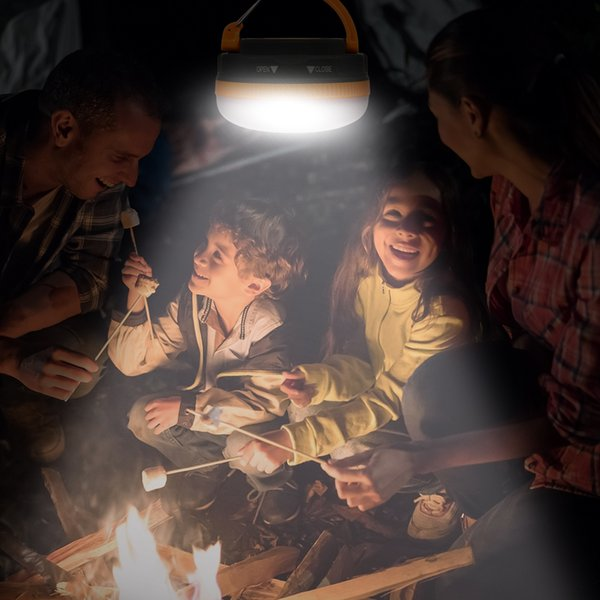 Super helle wasserdichte tragbare Camping Laterne Nachtlicht 3W 5 Modi LED Camping Licht Outdoor Notfall Lampe warmweiß