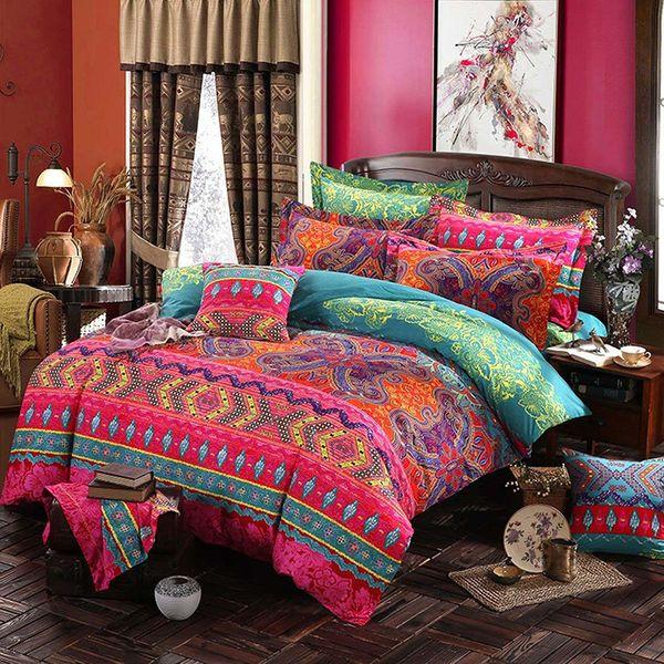 Böhmische 3D Tröster Bettwäsche-Sets Mandala Bettbezug Set Winter Bettlaken Kissenbezug Königin King Size Ethnischen Stil Bettwäsche Bettdecke