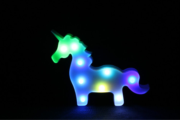 Habitaci/ón infantil ni/ña l/ámpara de pared unicornio LED dormitorio//l/ámpara de noche//sala de estar//pasillo