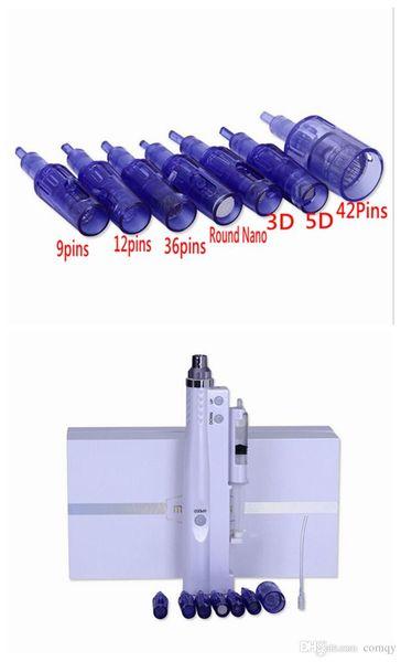 Astuces pour cartouches de rechange pour aiguilles 2 en 1 Mini-pistolet de mésothérapie Poinçon de micro-aiguille Derma Stamp Soins du visage anti-âge