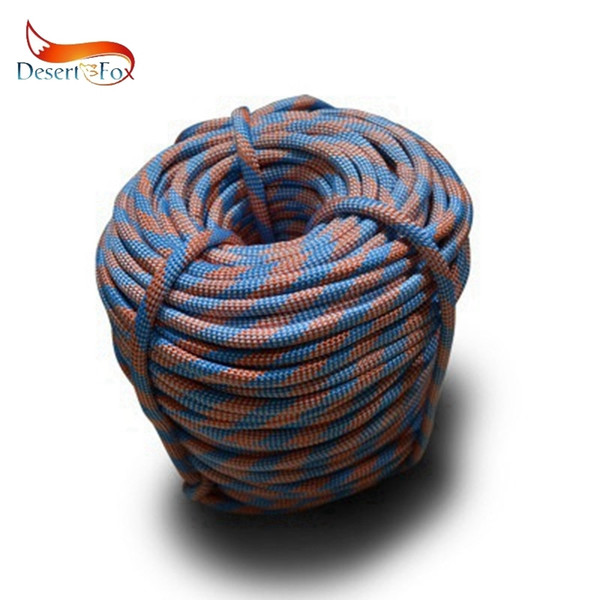 Desert&fox Climbing Rope Outdoor Emergency Rope 10m/20m/30m/50m Wear Resistant 9mm Diameter High Strength Hiking Accessory Tool