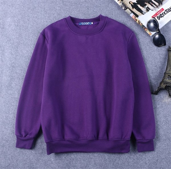 자주색 스웨터