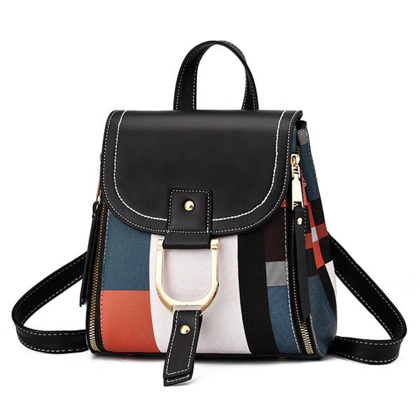 best selling 2020 New High Quality PU Leather Women Backpack Bag Shoulder School Bag for Girls Teenage Multi-use Daypack Knapsack Hand Bag Crossbody