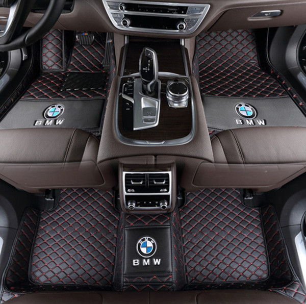 Para a BMW Série 5 GT Cinco assentos 2010-2017 PU interior mat stitchingall cercado por amigos do ambiente tapete non-toxic
