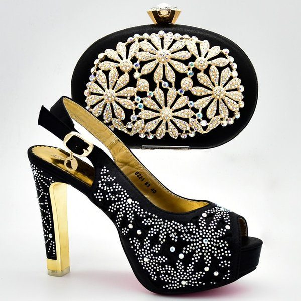 Good Price Party Shoes And Bag Set
