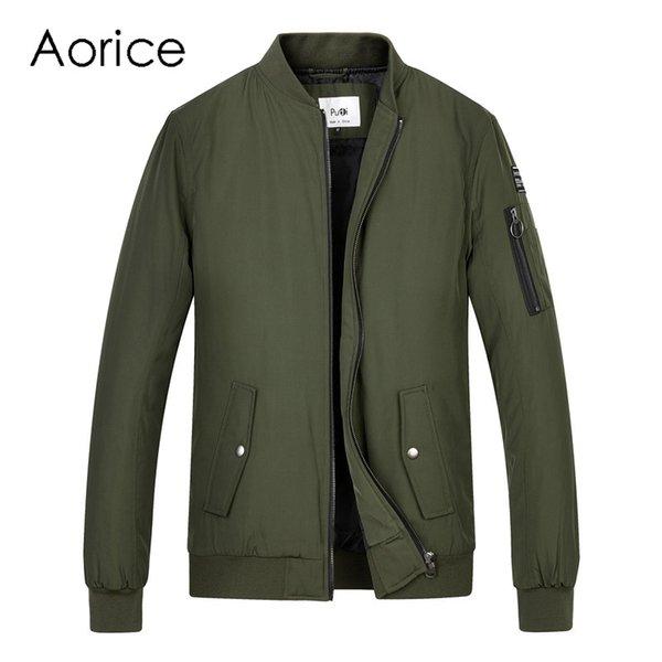 Aorice homens primavera uniforme de beisebol do inverno casaco de vôo jaqueta homensmeninos meninos 'Piloto terno exército preto pano verde QY905