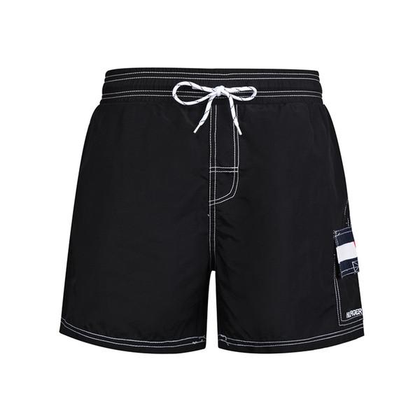 Pantalones cortos de verano del diseñador del Mens Casual nuevo estilo cortocircuitos de la playa pantalones cortos Deportes Blanco y Negro tamaño asiático M-2XL