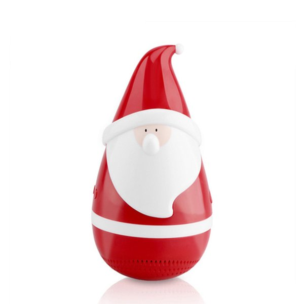 Cute Mini Santa Claus Tumbler Bluetooth Speaker Roly-poly Carnival toy children Wireless Bluetooth Music player Christmas Decoration Gift