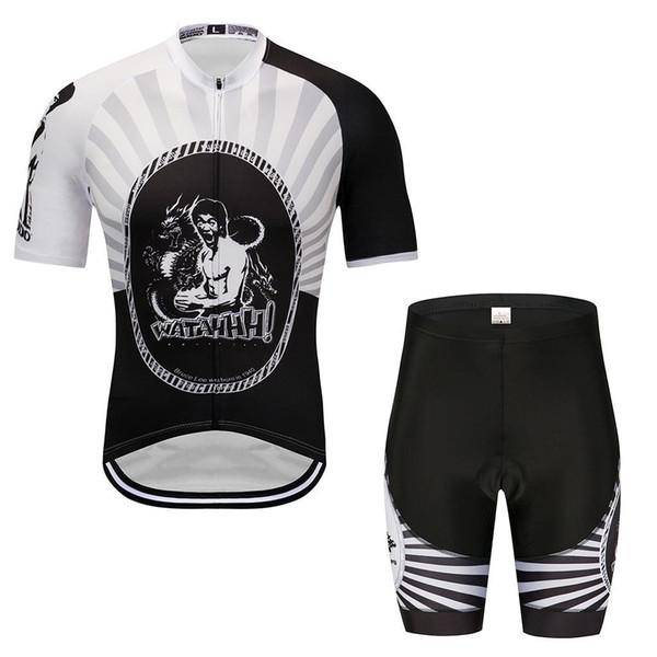 team cycling jerseys sets Silicone cushion Racing suits Summer Jersey Sweatshirt Casual personality bib pants sun protection clothing
