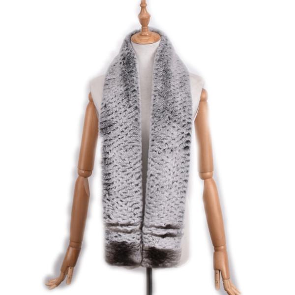 long 150cm New real fur scarf women Men Rex rabbit fur scarf scarf warm fur muffler