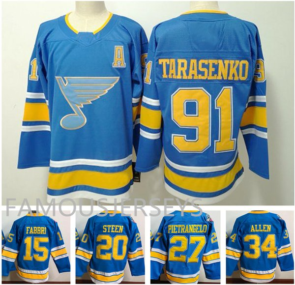 St.Louis Blues classic blue Alternative Hockeytrikots # 91 Vladimir Tarasenko 27 Alex Pietrangelo 34 Jake Allen 17 Jaden Schwartz 90 O'Reilly