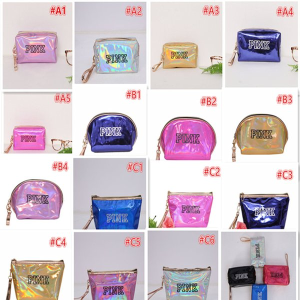 15 Colors Laser Cosmetic Bag Travel Pouch Large Capacity bolso Waterproof Makeup Bags Laser Leather Coin purse Paillette Cosmetic Bags