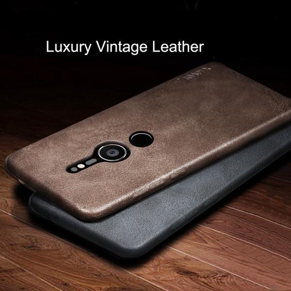 Funda de cuero vintage para Sony Xperia XZ3 XZ2 / XZ2 Compact / XZ2 Cubierta de cuero de PU de primera calidad para Sony XZ Premium Gentleman Business