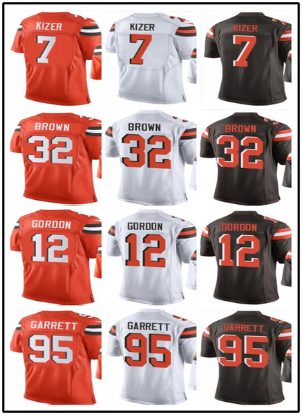 sports shoes 139b6 13045 2019 Message Size Cleveland Browns Jerseys #7 DeShone Kizer 32 Jim Brown 12  Josh Gordon Men'S Baseball Jersey Rugby Clothing From Toptop_jersey09, ...