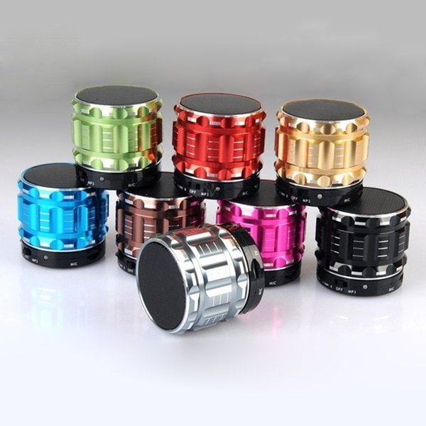 High Quality Metal Mini Bluetooth Speaker S28 Wireless Stereo Bass Portable Outdoors Loudpeaker With Mic For Mobile Phone Mp3 Free DHL