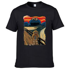 The SFunny Yelling Painting Sesame Street Cookies Ginger Bread T Shirt 2030303