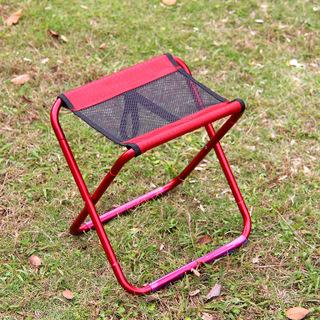 Folding Chairs Adjustable Comfortable Low Price Wholesale Ultralight Easy Carry Camping Chair Aluminum Simple Convenient Red