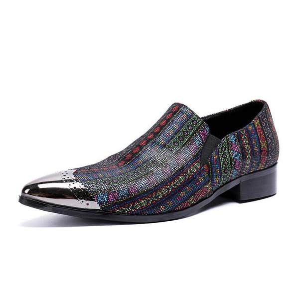 Британская кожаная обувь мужская повседневная корейская версия Peas Shoes острым носом деловое платье на высоком каблуке сплошного цвета