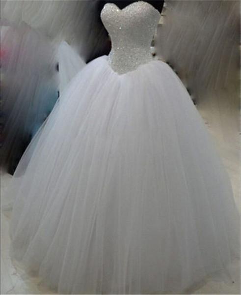 2019 сексуальный белый кристалл бальное платье Quinceanera платья тюль зашнуровать плюс размер сладкий 16 платья дебютантка 15 год вечернее платье BQ182