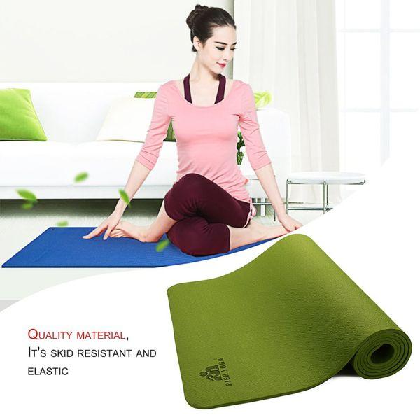 Tappetino yoga PIERYOGA per principianti Antiscivolo per perdere peso, tappetino sportivo antiscivolo fitness con stuoie da palestra per yoga