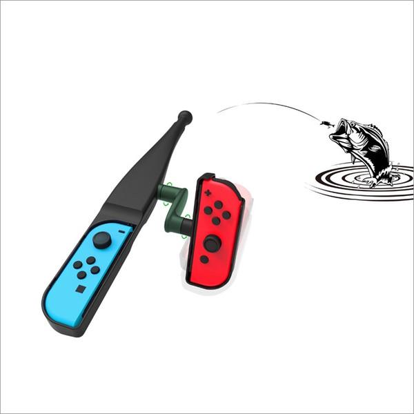 Fishing rod New 1 pcs Black for Nintend Switch Joy-Con NS Gamepad Finshing Game accessories fashing tool