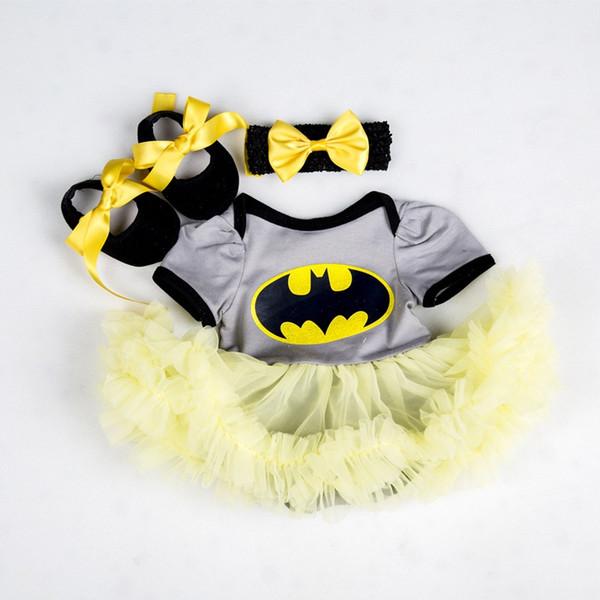 Vêtements pour Bébés Enfants Bébé Fille Vêtements Robe Barboteuse Bandeau Chaussures Tenues Vêtements Ensemble Roupas Infantis Menina