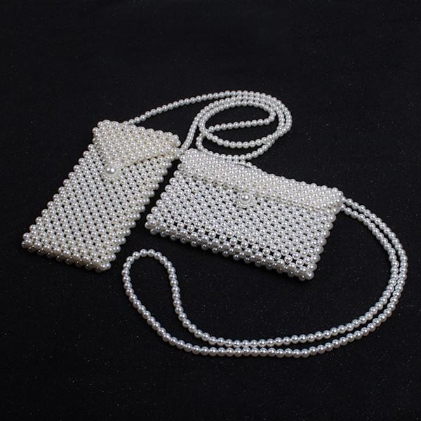 Borsa a tracolla per perle retrò fatta a mano Borsa a tracolla mini designer Borsa a tracolla Ragazze Lady Kids Elegante Ins Borse portamonete HHA725