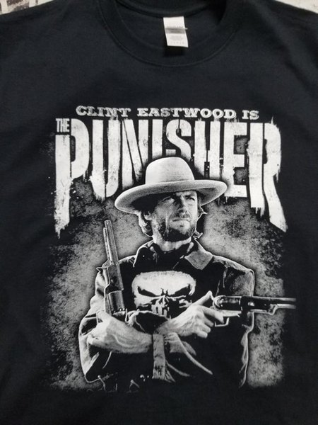 The Punisher shirt Clint Eastwood collectible filme roupas humor netflix 2018 moletom com capuz hip hop t-shirt
