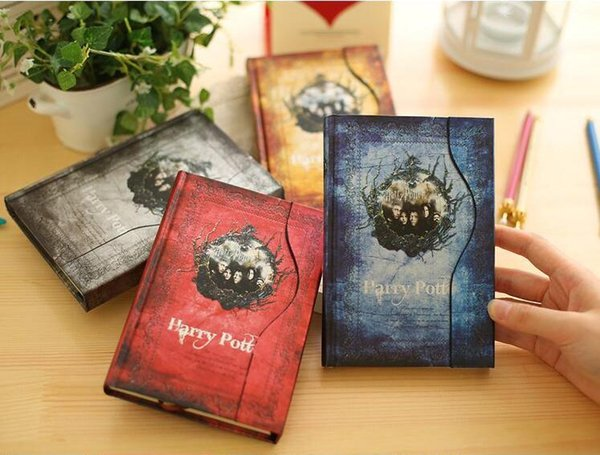 Vintage Harry Potter notepads Retro paper Magic Diary Book Notepad Magnet Notebook office school supplier student paper notebooks SN1693