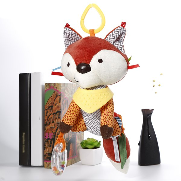 Hot Sale Lovely Fox Soft Plush Toy Doll Newborn Baby Bed Hanging Toy Bed Bell Stroller For Infant Gift