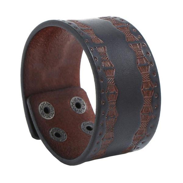 18 stili Vintage Multiplo Charm Bracciali in pelle Set per uomo Handmade Lace up regolabile Punk Wristband Bangle Jewelry pksp8-10