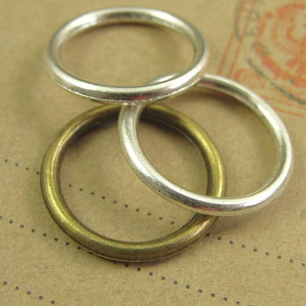 19 * 2MM bronzo antico retrò collegamento anello rotondo connettore ciondolo fascino perline, accessori gioielli fatti a mano in rame moda fai da te
