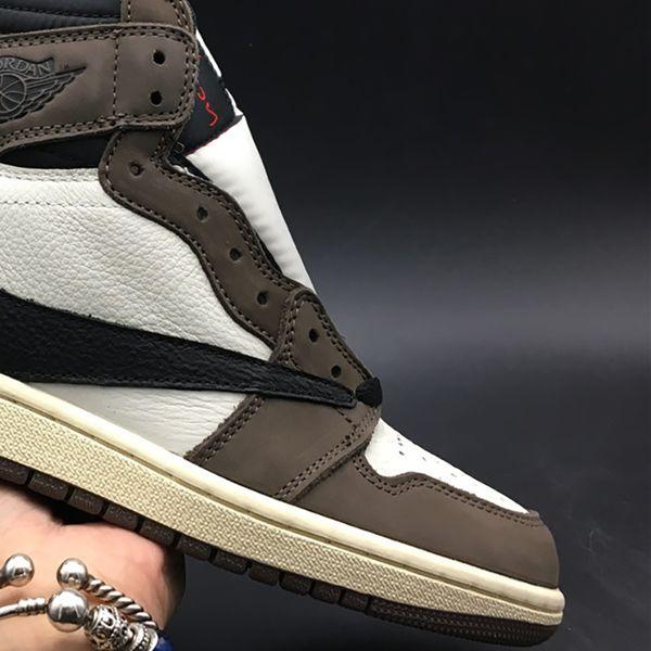 Travis Scott x Air 1 High OG CD4487-100 1s I Kicks Men Basketball Sports Shoes Sneakers High Quality Trainers With Original Box US7-13