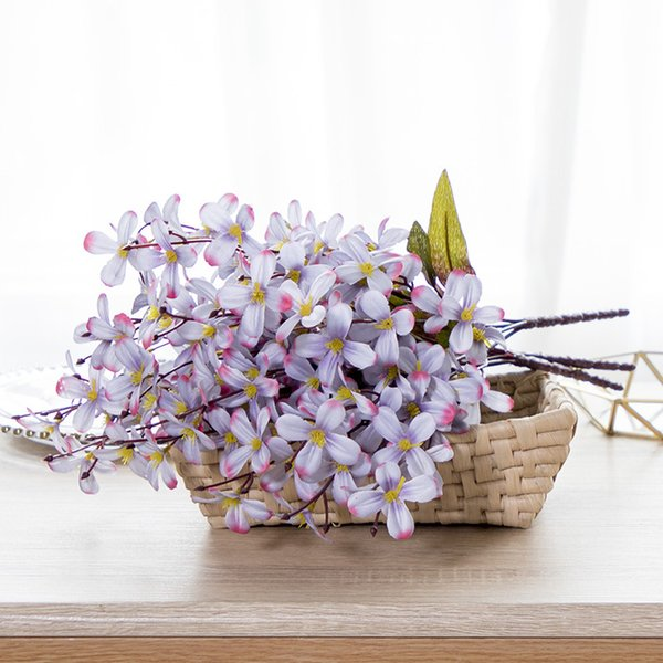 One Bouquet 6 Braches 60 Heads Cute Silk Daisy Artificial Decorative Flower Wedding Flower Bouquet Home Room Table Decoration