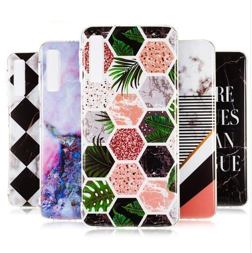 Granite Marble Rock Stone Pattern Soft TPU Gel IMD Case for iphone X XS Max XR 8 7 6 Samsung S7 S8 S9 S10e Plus Note 8 9